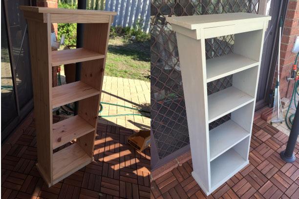 妻のワークショップの成果。欲しいサイズで作成した本棚