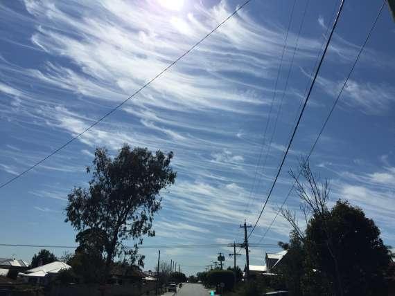 オーストラリアのすじ雲