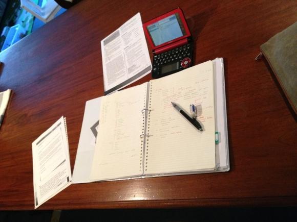 語学学校に通っていた頃の宿題風景